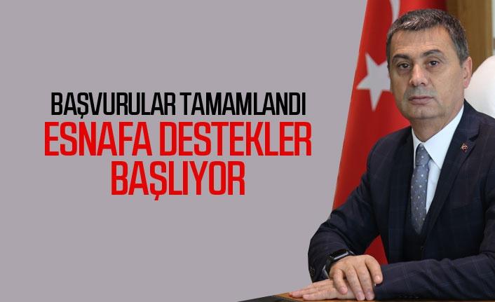 Başkan Şimşek'ten esnafa bayram öncesi 1000 TL'lik destek