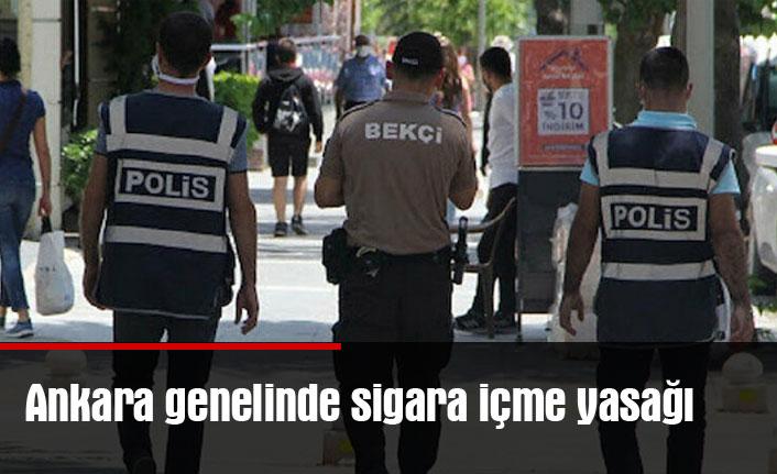 Ankara genelinde sigara içme yasağı