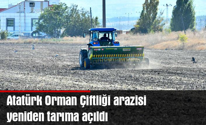 Atatürk Orman Çiftliği arazisi yeniden tarıma açıldı
