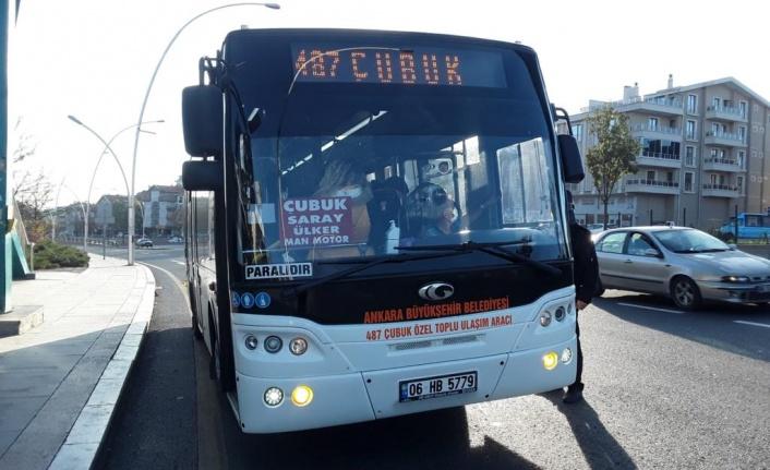 Çubuk ve Akyurt ÖTA'larında Ankarakart dönemi başlıyor