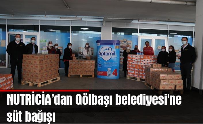 NUTRİCİA'dan Gölbaşı belediyesi'ne süt bağışı
