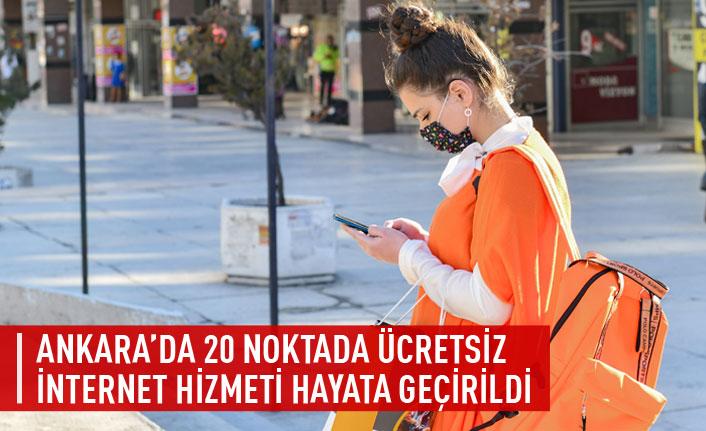 Ankara'da 20 noktada ücretsiz internet hizmeti hayata geçirildi
