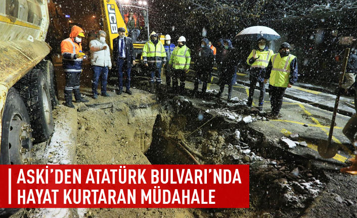 ASKİ'den Atatürk Bulvarı'nda hayat kurtaran müdahale