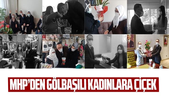 MHP'den Gölbaşılı kadınlara çiçek