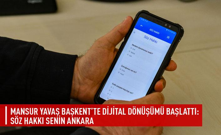 Mansur Yavaş başkent'te dijital dönüşümü başlattı: söz hakkı senin Ankara