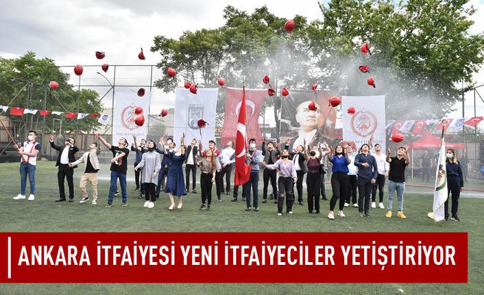 Ankara itfaiyesi yeni itfaiyeciler yetiştiriyor