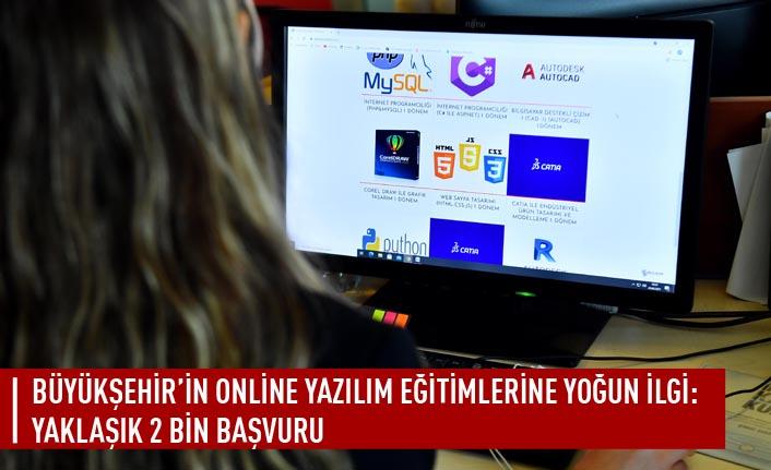 Büyükşehir'in online yazılım eğitimlerine yoğun ilgi: yaklaşık 2 bin başvuru