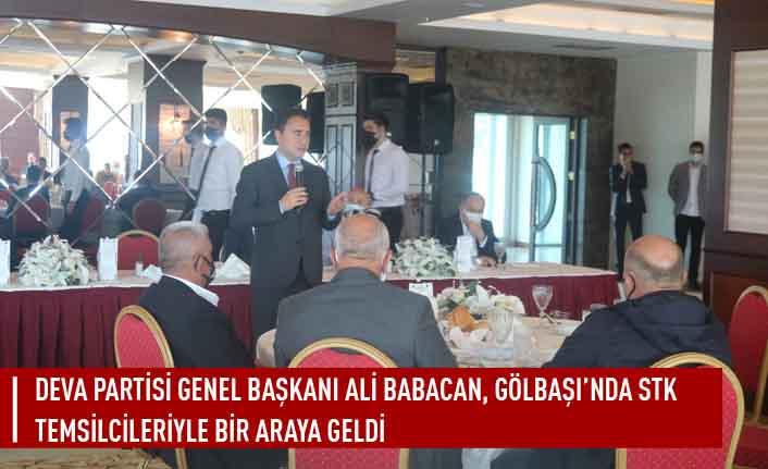 DEVA Partisi Genel Başkanı Ali Babacan, Gölbaşı'nda STK Temsilcileriyle bir araya geldi
