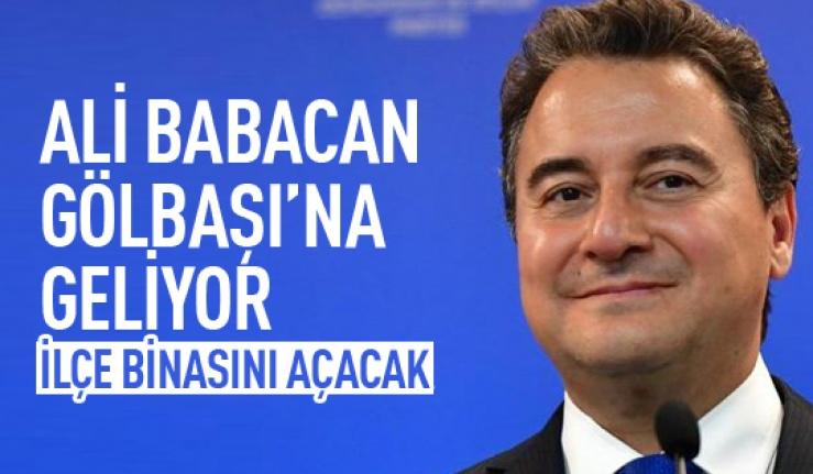 DEVA Partisi Genel Başkanı Babacan Gölbaşı'na geliyor