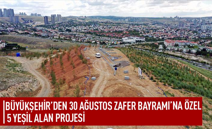 Büyükşehir'den 5 yeni yeşil alan daha