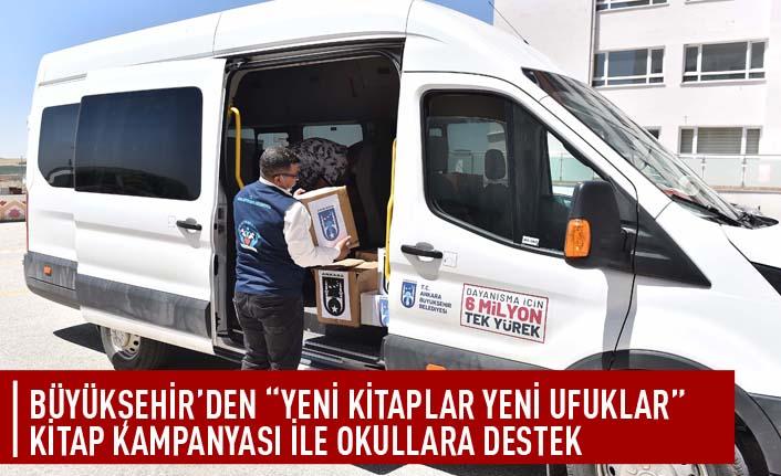 """Büyükşehir'den """"yeni kitaplar yeni ufuklar"""" kitap kampanyası ile okullara destek"""