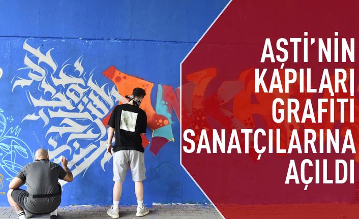 AŞTİ'nin kapıları grafiti sanatçılarına açıldı