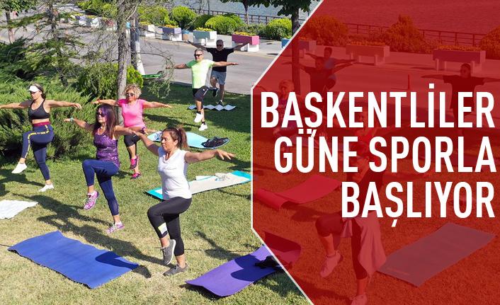 Başkentliler güne parklarda sporla başlıyor