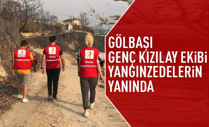 Gölbaşı Genç Kızılay ekibi Manavgat'ta çalışmalara destek verdi