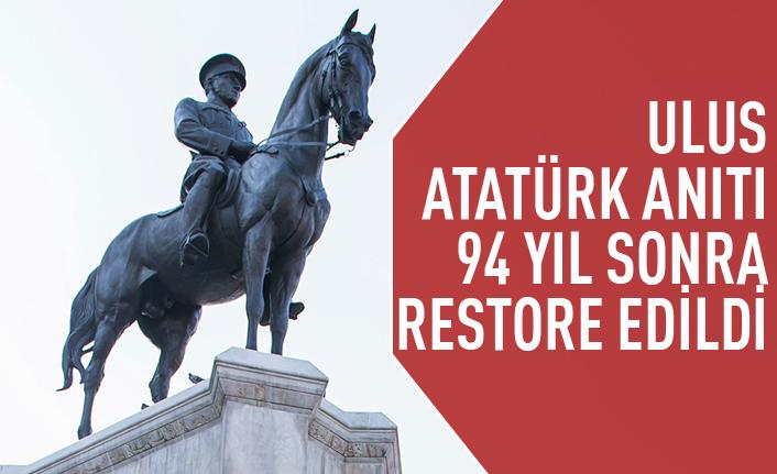 Ulus'taki Atatürk Anıtı restore edildi