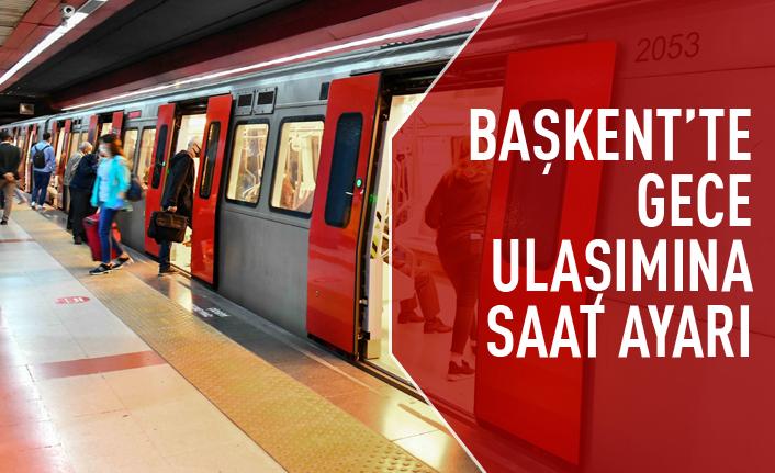 Ankara'da gece ulaşımına saat uyarı