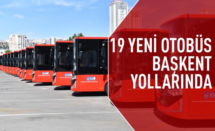 Başkent'in yeni otobüsleri yollarda