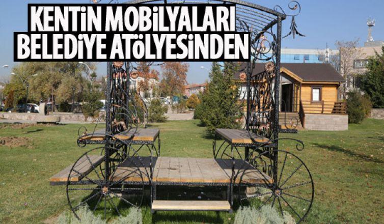 Atölyelerde üretilen mobilyalarla belediye bütçesine katkı!