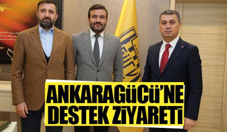 Başkan Şimşek'ten Ankaragücü yönetimine destek!