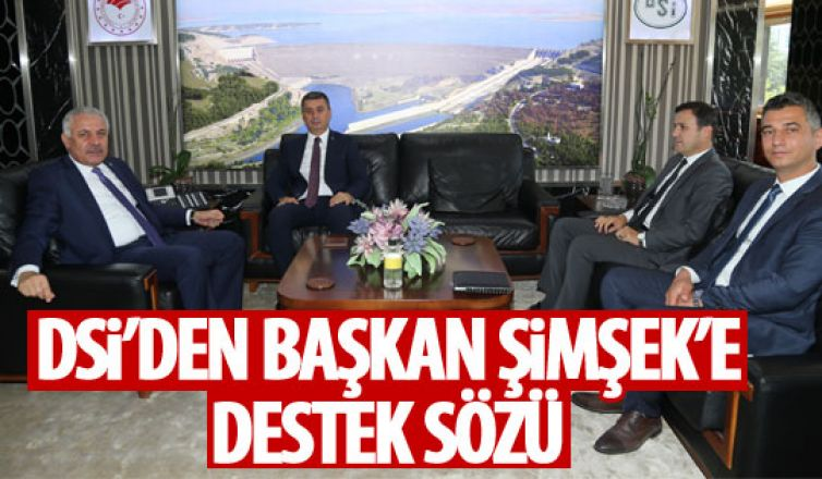 Başkan Şimşek'ten DSİ Genel Müdürü Aydın'a ziyaret!
