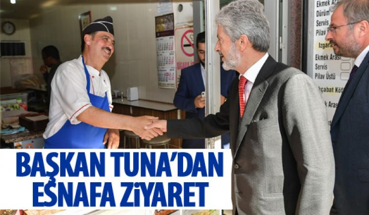 Başkan Tuna'dan Ayvalı esnafına ziyaret
