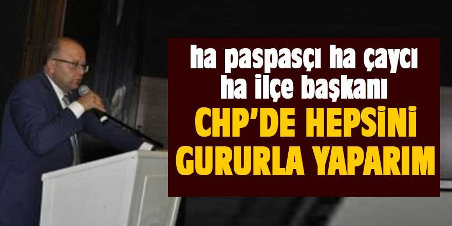 """CHP İlçe Başkanı Bülent Elikesik; """"Biz koltuk değil, CHP siyaseti yapıyoruz"""""""