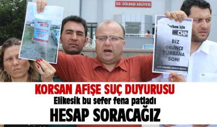 CHP'den korsan afişe suç duyurusu