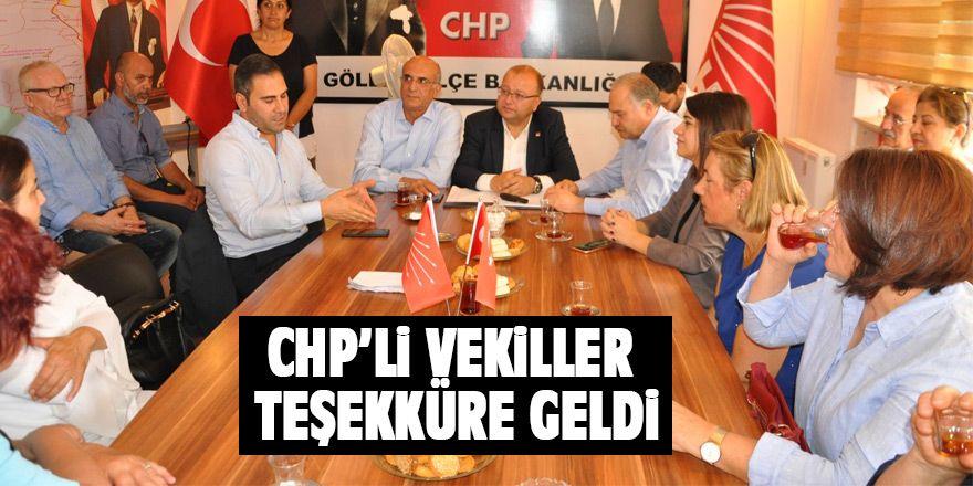 CHP'li vekillerden teşekkür ziyareti