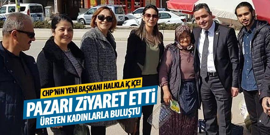 CHP'nin yeni başkanı halkla iç içe