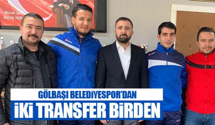 Gölbaşı Belediyespor'dan iki transfer!