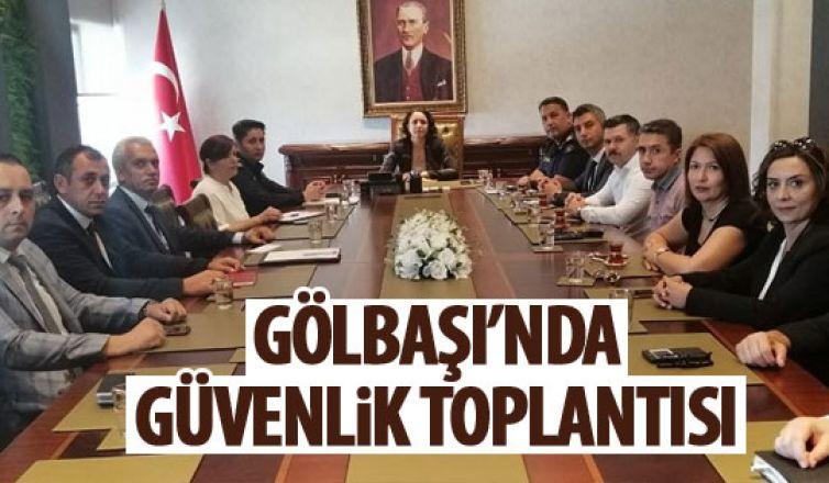 Kaymakam Tülay Baydar'ın başkanlığında güvelik toplantısı