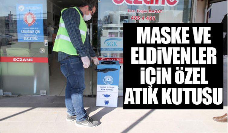 Maske ve eldivenler için özel atık kutusu!
