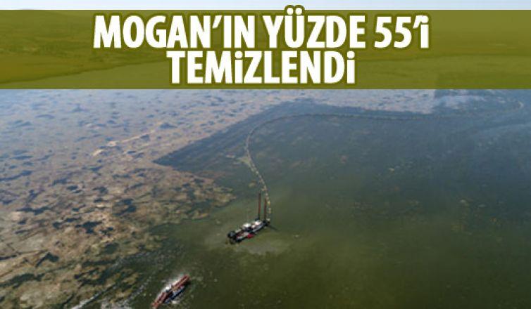 Mogan'da temizlik çalışmaları sürüyor