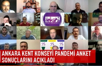 Ankara kent konseyi pandemi anket sonuçlarını açıkladı