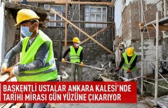 Başkentli ustalar Ankara kalesi'nde tarihi mirası gün yüzüne çıkarıyor