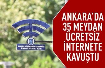 Mansur Yavaş bir sözü daha tuttu: Ankara'da 35 meydan ücretsiz internete kavuştu
