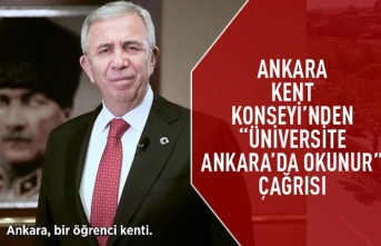 "Yavaş da davet etti: Ankara Kent Konseyi'nden "" üniversite Ankara'da okunur"" çağrısı"