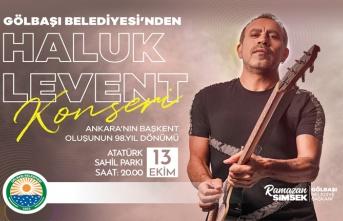Ankara'nın Başkent Oluşunun 98. Yılı Haluk Levent İle Kutlanacak