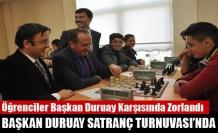 Başkan Duruay Satranç Turnuvası'nda