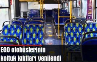 EGO otobüslerinin koltuk kılıfları yenilendi