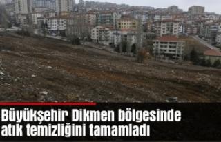Büyükşehir Dikmen bölgesinde atık temizliğini...