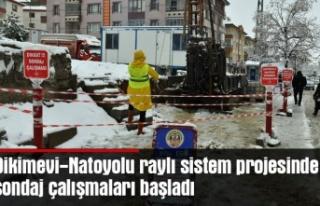 Dikimevi-Natoyolu raylı sistem projesinde sondaj...