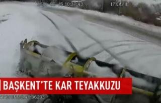 Başkent'te karla mücadelede 7/24 canlı yayın
