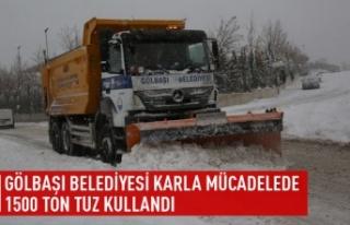 GÖLBAŞI BELEDİYESİ KARLA MÜCADELESİNDE 1500...