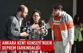 Ankara Kent Konseyi'nden deprem farkındalığı