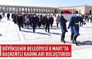 Büyükşehir Belediyesi 8 Mart'ta başkentli...