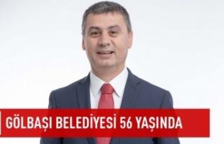 Gölbaşı belediyesi 56 yaşında