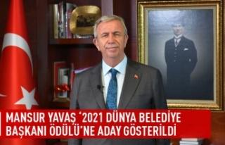 Mansur Yavaş '2021 dünya belediye başkanı...