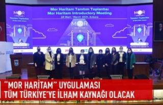 """""""Mor Haritam"""" uygulaması tüm Türkiye'ye..."""