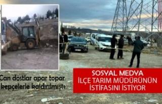 Sosyal medya İlçe Tarım Müdürü'nün istifasını...